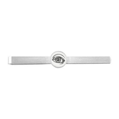 15mm x 15mm Jewel Tie Sterling Silver and Black Enamel Cuff Links
