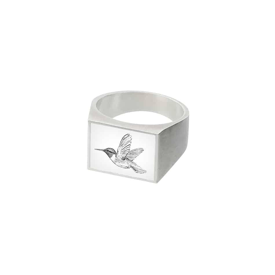 8 Sigelring Auge22-kolibri